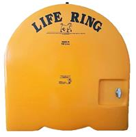 "1-""Tough Guy"" Fiberglass Life Ring Cabinets (Complete with Ring & Rope)"