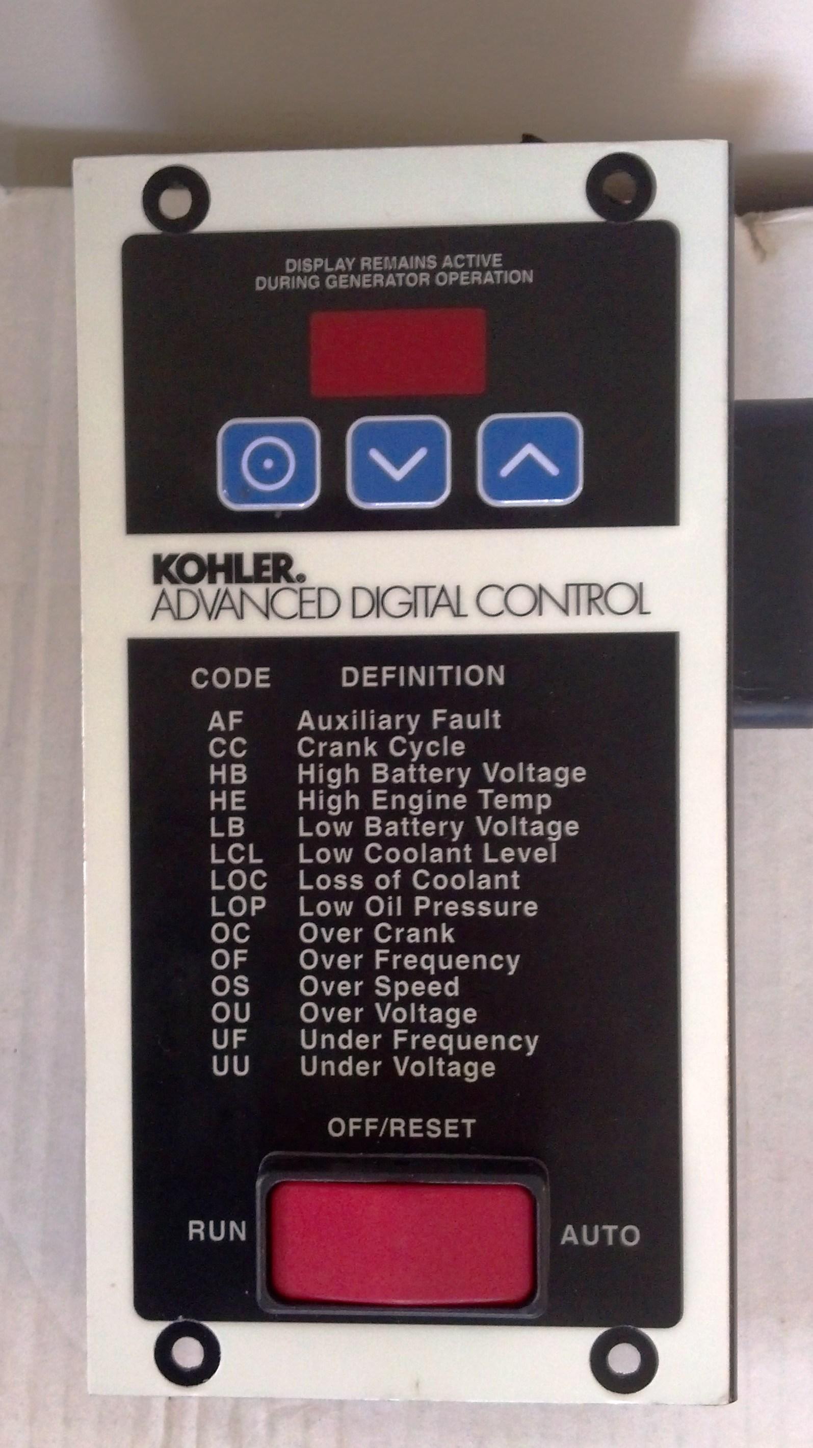 Kohler Advanced Digital Controller Gm34969 J Way